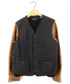 PHIGVEL MAKERS(フィグベルマーカーズ)の古着「シューティングジャケット」|ブラック×ブラウン