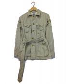 FWk Engineered Garments(エフダブリューケーエンジニアードガーメンツ)の古着「ミニタリージャケット」|ベージュ