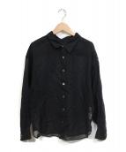 ()の古着「シアーシャツ COTTON VOILE SHIRT 19SS」 ブラック