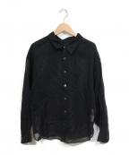 HYKE(ハイク)の古着「シアーシャツ COTTON VOILE SHIRT 19SS」|ブラック
