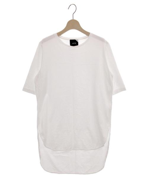 ATON(エイトン)ATON (エイトン) ラウンドヘムTシャツ ホワイト サイズ:02の古着・服飾アイテム