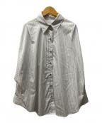 Loungedress(ラウンジドレス)の古着「ストライプドルマンBIGシャツ」