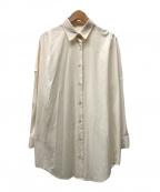 Loungedress(ラウンジドレス)の古着「BIGシャツ」 アイボリー