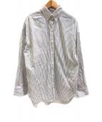 ()の古着「ストライプBDシャツ」 ホワイト