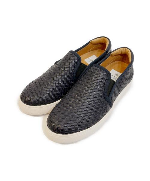 LANVIN en Bleu(ランバンオンブルー)LANVIN en Bleu (ランバンオンブルー) メッシュスリッポン ネイビー サイズ:22 1/2の古着・服飾アイテム