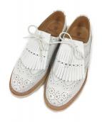 Trickers(トリッカーズ)の古着「ウィングチップシューズ」|ホワイト