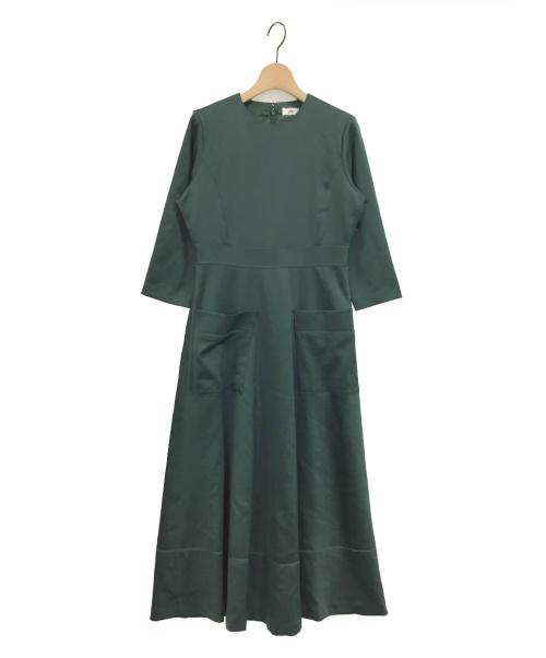 I am I(アイアムアイ)I am I (アイアムアイ) 続・喫茶店に着ていきたいワンピース グリーン サイズ:Fの古着・服飾アイテム