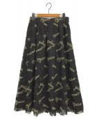 Diagram(ダイアグラム)の古着「プラネット刺繍スカート」|ブラック