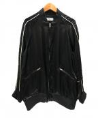 edition(エディッション)の古着「キュプラサテンスーベニアジャケット」|ブラック