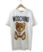 ()の古着「ピクセルコットンテディベアプリントTシャツ」|ホワイト