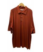 ()の古着「ビッグシルエットポロシャツ」|ブラウン