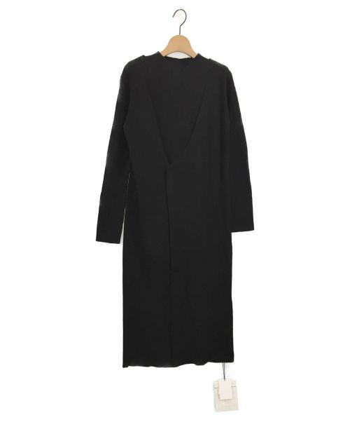 ELENDEEK(エレンディーク)ELENDEEK (エレンディーク) ロングアンサンブルニット ブラック サイズ:F 未使用品の古着・服飾アイテム