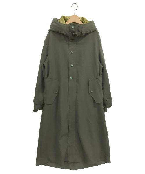 UN3D.(アンスリード)UN3D. (アンスリード) バッククロスフードコート オリーブ サイズ:36の古着・服飾アイテム