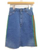 GUCCI(グッチ)の古着「19SS シェリーラインデニムスカート」|スカイブルー