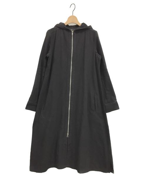 Y's(ワイズ)Y's (ワイズ) リネンコットンフーデッドコート ブラック サイズ:2の古着・服飾アイテム