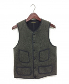 BROWNS BEACH JACKET()の古着「LOW NECK VEST」|ブラック
