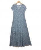 JILL STUART(ジルスチュアート)の古着「シェイラレースワンピース」|ブルー