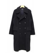 tricot COMME des GARCONS(トリコ コムデギャルソン)の古着「ロングPコート」|ネイビー