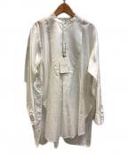 MACPHEE(マカフィー)の古着「コットンモールスキン チュニックシャツ」 ホワイト