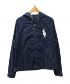 POLO RALPH LAUREN()の古着「ビッグポニーフードジャケット」|ネイビー