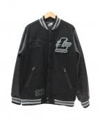 LEFLAH(レフラー)の古着「レザースリーブスタジャン」|ブラック