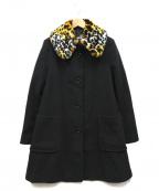 LOVE MOSCHINO(ラブモスキーノ)の古着「フェイクファーカラーコート」 ブラック