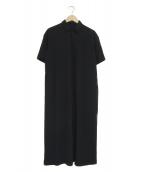 manon(マノン)の古着「ロング シャツワンピース」|ブラック