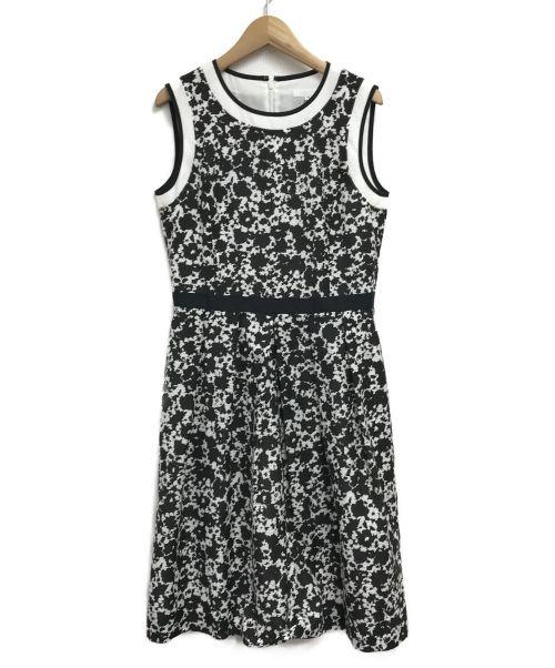 LESTERA(レステラ)LESTERA (レステラ) ノースリーブワンピース ホワイト×ブラック サイズ:38の古着・服飾アイテム