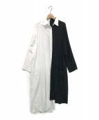 B Yohji Yamamoto(ビーヨウジヤマモト)の古着「Spare Collar Black White Half 」|ホワイト×ブラック