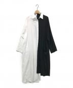 B Yohji Yamamoto(ビーヨウジヤマモト)の古着「Spare Collar Black White Half 」 ホワイト×ブラック