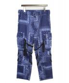 ROGIC(ロジック)の古着「PAISLEY BONTAGE PANTS」|ネイビー
