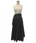YLEVE(イレーヴ)の古着「ラップスカート」 ブラック