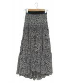 SHE Tokyo(シートーキョウ)の古着「ティアードロングスカート」|ブラック