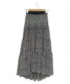 SHE TOKYO(シートーキョー)の古着「ティアードロングスカート」|ブラック