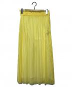 ZUCCA(ズッカ)の古着「ストライプスカート」 イエロー