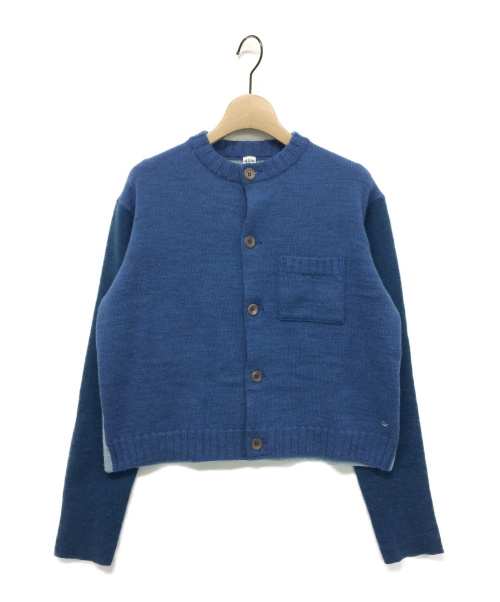 45R(フォーティファイブアール)45R (フォーティファイブアール) アルルとフロートのミックスカーディガン ブルー サイズ:2の古着・服飾アイテム