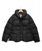 YOHJI YAMAMOTO(ヨウジヤマモト)の古着「2WAYショールカラーダウンジャケット」|ブラック