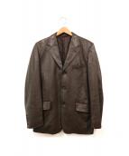 Paul Smith London(ポールスミスロンドン)の古着「レザーテーラードジャケット」|ブラウン