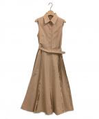 Ameri VINTAGE(アメリヴィンテージ)の古着「LADY ALTERNATELY DRESS」 ベージュ