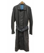ISSEY MIYAKE MEN(イッセイミヤケメン)の古着「ウォッシュロングコート」 ブラック