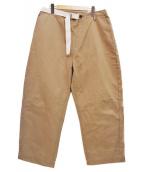 TODAYFUL(トゥデイフル)の古着「19SS Wラップチノパンツ」|ブラウン