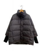 vega(ベガ)の古着「デザインダウンコート」|ブラック