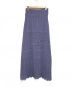 ROSE BUD(ローズバッド)の古着「レース編みスカート」 パープル