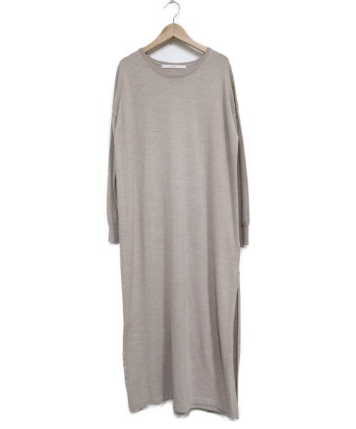 FRAMeWORK(フレームワーク)FRAMeWORK (フレームワーク) 12GGロングプルオーバーワンピース ベージュ サイズ:表記無しの古着・服飾アイテム