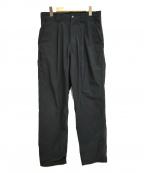 THE RERACS(ザ リラクス)の古着「18SS PE/NYタックパンツ」|ブラック