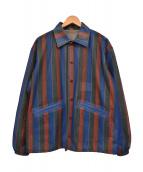 TOGA VIRILIS(トーガ ヴィリリース)の古着「18SS プリントメッシュブルゾン コーチジャケット」|マルチカラー