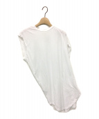 nagonstans(ナゴンスタンス)の古着「アシンメトリーカットソー」|ホワイト