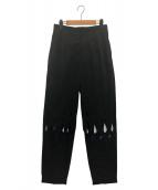 TOGA PULLA(トーガ プルラ)の古着「エンブロイダリーパンツ」|ブラック