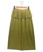 SAYAKA DAVIS(サヤカ デイビス)の古着「ストライプメタリックニットスカート」