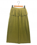 SAYAKA DAVIS(サヤカ デイヴィス)の古着「ストライプメタリックニットスカート」